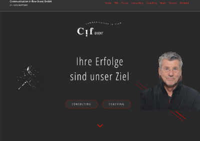 Website Kommunikationsagentur Communication in flow - Dr. Hans Bachmann
